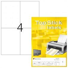 TopStick (8717) - A-4 stickers - Wit - 105mm x 148mm - 400 Etiketten