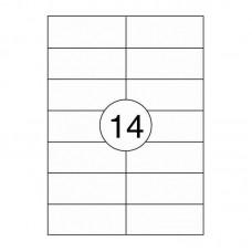 A-4 stickers - Wit - 105mm x 42.3mm - 1400 Etiketten