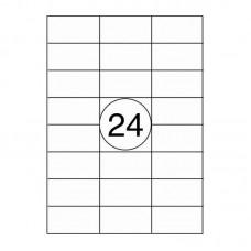 A-4 stickers - Wit - 70mm x 37mm - 2400 Etiketten